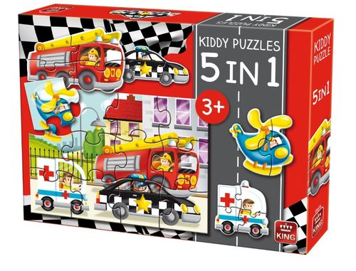 Kiddy Puzzles 5 in 1 ``Fahrzeuge``