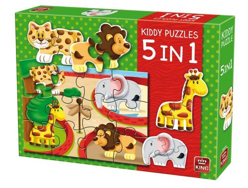 Kiddy Puzzles 5 in 1 ``Zoo``