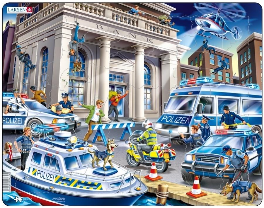 Larsen Rahmenpuzzle ``Polizeieinsatz`` - 43 Teile