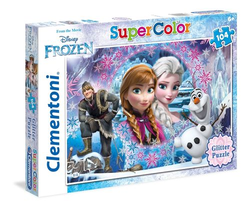 Clementoni - Super Color Glitter Puzzle - Frozen