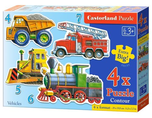 Castorland - Fahrzeuge - 4in1 - Formpuzzles