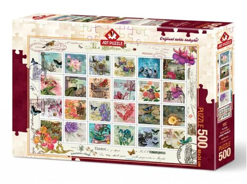 Art Puzzle - Briefmarkencollage (Stamp Collage) - 500 Teile