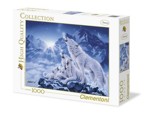 Clementoni - Wolfsrudel (Family of Wolves) - 1000 Teile