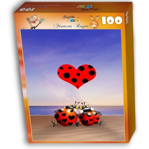 Grafika Kids - Francois Ruyer: Love - 100 Teile Puzzle