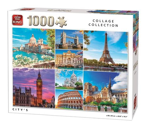King - Collage - Städte - 1000 Teile Puzzle