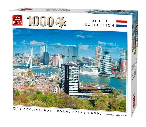 King - City Skyline, Rotterdam, Niederlande - 1000 Teile