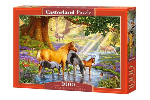 Castorland - Horses by the Stream - 1000 Teile