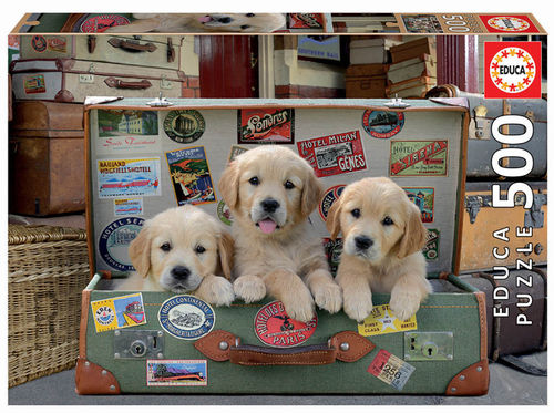 Educa - Puppies in the Luggage - 500 Teile