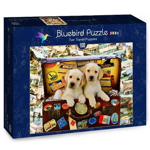 Bluebird Kids - Two Travel Puppies - 100 Teile