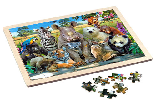 Philos - Exotic Wildlife - 48 Teile - Holzpuzzle