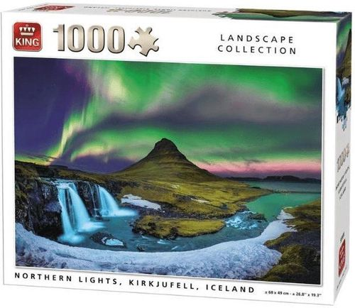 King - Northern Lights, Kirkjufell, Iceland - 1000 Teile