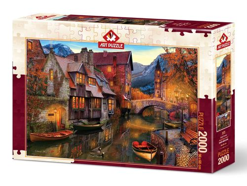 Art Puzzle - Canal Homes - 2000 Teile