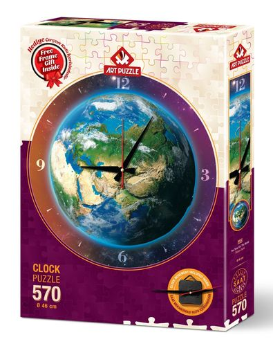 Art Puzzle - Puzzleuhr - The Time for the World - 570 Teile