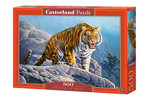 Castorland - Tiger on the Rocks - 500 Teile