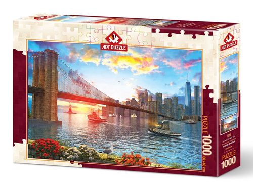 Art Puzzle - Sunset on New York - 1000 Teile