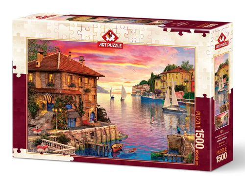 Art Puzzle - The Mediterranean Harbour - 1500 Teile
