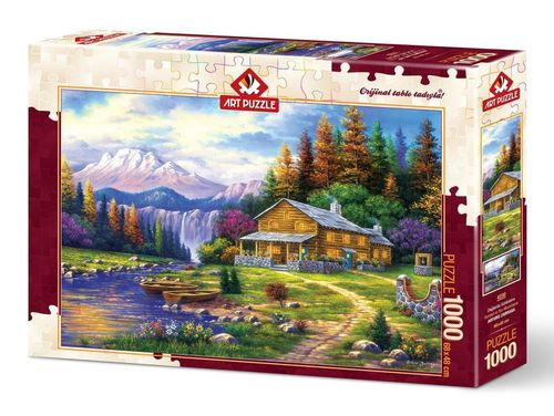Art Puzzle - Sunset in the Mountains - 1000 Teile