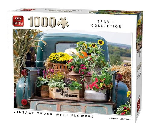 King - Vintage Truck with Flowers - 1000 Teile